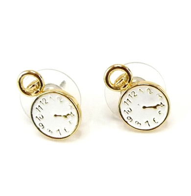Disney Couture™ Alice In Wonderland Pocket Watch Stud Earrings